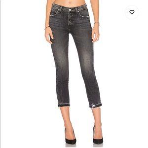 AMO Babe Jean in Rascal Raw Hem Size 25